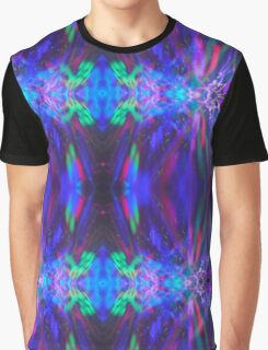 Abstract Blue Green Red Light Painting Graphic T-Shirt