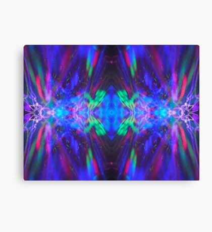 Abstract Blue Green Red Light Painting Canvas Print