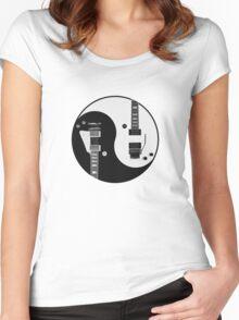 Yin Yang - Guitars Women's Fitted Scoop T-Shirt