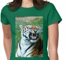 Feline fangs Womens Fitted T-Shirt
