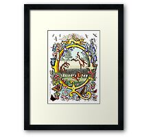 """The Illustrated Alphabet Capital  Q  """"Getting personal"""" Framed Print"""