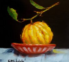 Bush Lemon In Black by Margaret Stockdale