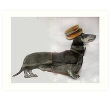 Surger (Sausage Burger) Dog ! Art Print