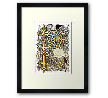 """The Illustrated Alphabet Capital  P  """"Getting personal"""" Framed Print"""