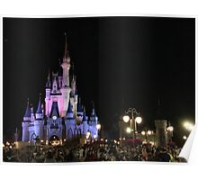 Magic Kingdom at Night Poster