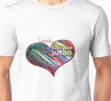 Love is knitting Unisex T-Shirt