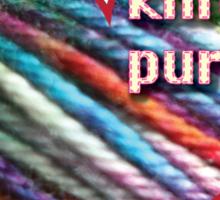 Love is knitting Sticker