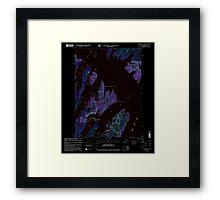 USGS TOPO Map Alaska AK Seward A-3 358865 2000 63360 Inverted Framed Print
