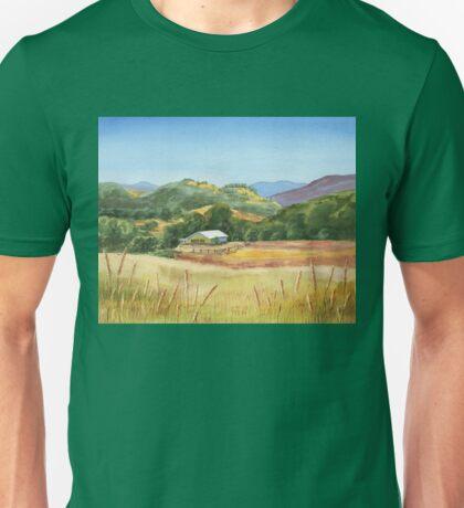 Country Scene White Barn At The Farm Unisex T-Shirt