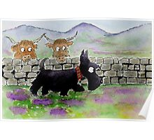 Scottie Dog 'Roaming in the Gloaming' Poster