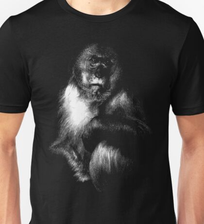 Sad Monkey, monkey black shirt Unisex T-Shirt
