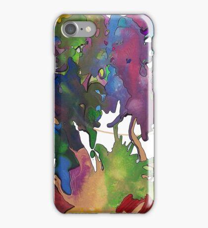 Splattered & Battered Pen & Ink Doodle Painting Brian moss iPhone Case/Skin