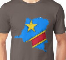 Democratic Republic of the Congo Zaire Map With Flag Unisex T-Shirt