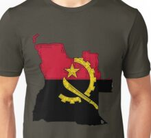 Angola Map With Angolan Flag Unisex T-Shirt