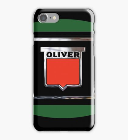 Oliver tractors and equipment sign Vintage as heck. iPhone Case/Skin