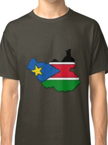 Sudan Map With Sudanese Flag Classic T-Shirt