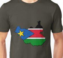 Sudan Map With Sudanese Flag Unisex T-Shirt