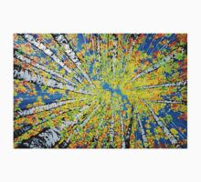 Calming Canopy Aspen Quaking Colorado Sky Autumn Colorful One Piece - Long Sleeve