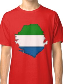 Sierra Leone Map With Flag Classic T-Shirt