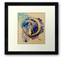 Moonight Kittens Framed Print