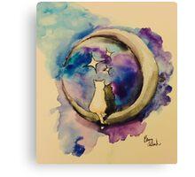 Moonight Kittens Canvas Print