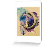Moonight Kittens Greeting Card