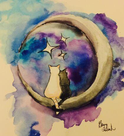 Moonight Kittens Sticker