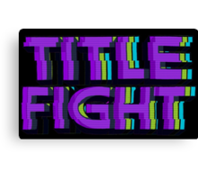 VHS Title Fight Canvas Print