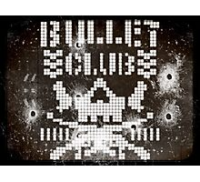 pixelated bullet proof shot up Photographic Print