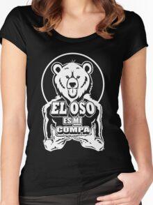 El Oso Es Mi Compa Women's Fitted Scoop T-Shirt