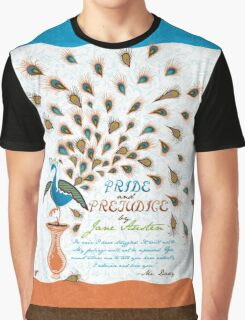 Paisley Peacock Pride and Prejudice: Modern Graphic T-Shirt