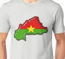 Burkina Faso Map With Flag of Burkina Faso Unisex T-Shirt