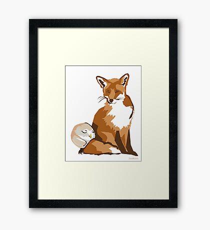 El zorro y la lechuza Framed Print