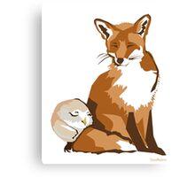El zorro y la lechuza Canvas Print