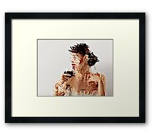 Wine drinker Framed Print