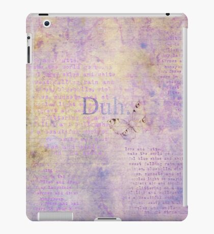 Silly Word 1 iPad Case/Skin
