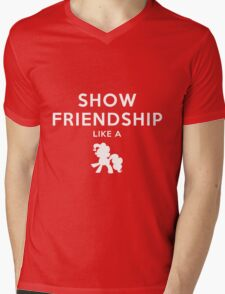Show friendship like a - My little Pony Mens V-Neck T-Shirt