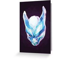 Mewtwo Polygonal Greeting Card
