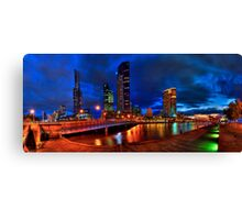 Melbourne's South Bank Panorama Canvas Print