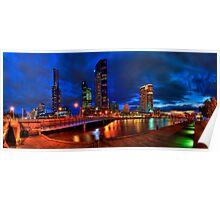 Melbourne's South Bank Panorama Poster