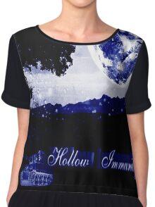 Hollow Immunity Stella Blue Chiffon Top