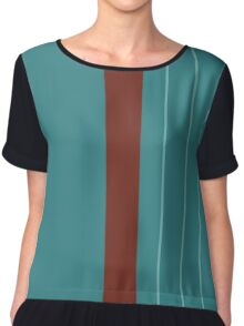 Rhys Graphic Tee, Variant A Chiffon Top