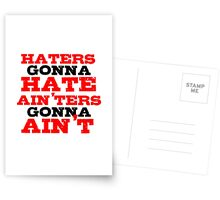 Haters Gonna Hate The Interview Funny Quote Postcards