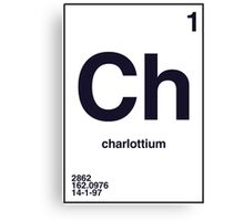 Periodic Name Table | Charlotte Canvas Print