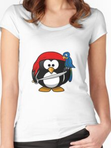Penguin and Bird !  Women's Fitted Scoop T-Shirt