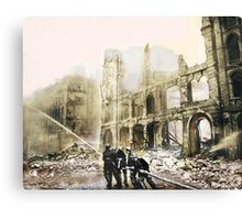 Ruins in London After a Raid Canvas Print