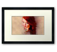 Red Oil Paints Framed Print