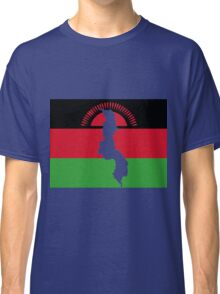 Malawai Flag With Map of Malawi Classic T-Shirt