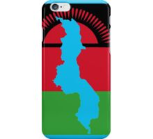 Malawai Flag With Map of Malawi iPhone Case/Skin
