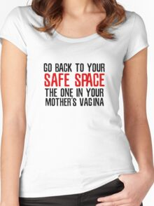 Safe Spaces PC Freedom Of Speech Liberty  Women's Fitted Scoop T-Shirt